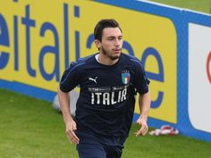Matteo Darmian of Italy in action during a training session at Italy club's training ground at Coverciano on October 3, 2017 in Florence, Italy.