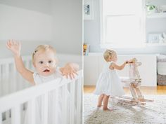 Homemade rocker. First birthday portraits by Shannon Michele Photography | 100 Layer Cakelet