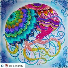 Tropical Artwork Jellyfish Drawing Colour Therapy Adult Coloring Book Pages Books Mermaid Art Secret Garden Birds