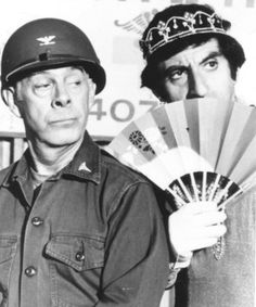 Colonel Sherman T. Potter and Corporal Maxwell Q. Klinger
