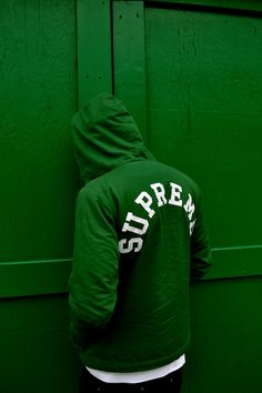 Green Supreme #streetwear #fashion || AcquireGarms.com