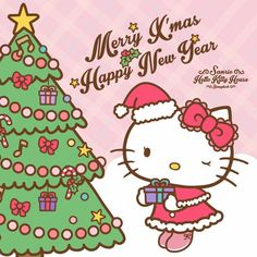 merry xmas and happy new year melody hello kitty hello kitty art hello