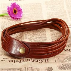 1PCS Magic Unique Dual Purpose Tassels Adjustable Leather Necklace Bracelet Coffee (COFFEE) | Everbuying.com