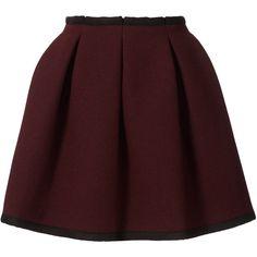 Orla Kiely Heavy Wool Skirt ($335) ❤ liked on Polyvore