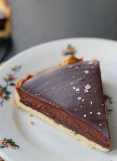 Chocolate-Caramel Tart with Sea Salt.