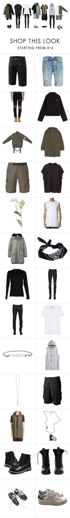 """""""i'm all in"""" by baobaei ❤ liked on Polyvore featuring Topman, AMIRI, Vetements, Yves Saint Laurent, The North Face, H&M, OKA, Zanerobe, Acne Studios and ASOS"""