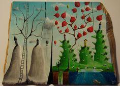 """""""me 08"""" Paweł Widera original paintings, acrylic on wood"""