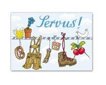 Postkarte Servus