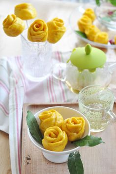 Rose Pumpkin Steamed Bun ~ Happy Mother's Day