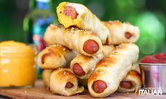 The Slow Roasted Italian - Printable Recipes: Soft Pretzel Dog