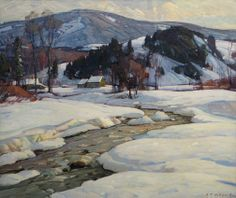 """Winter Light,"" Aldro T. Hibbard, oil on canvas, 25 x 30"", Vose Galleries."