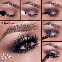 Enigmatic eye makeup