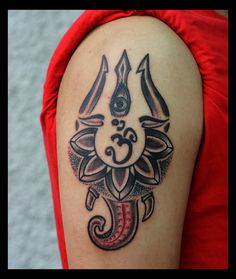 Trishul eye Om Ganesha Tattoo