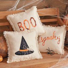 Halloween Sequin Pillows