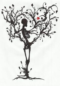 The tree of life by MrPale on deviantART skeleton tree flash art tattoo ~A.R. by ccgarza2