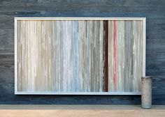 Beautiful distressed wood wall art.