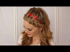 Dutch Braided Headband with a Ribbon - Missy Sue