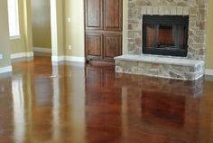 earthen umber concrete stain