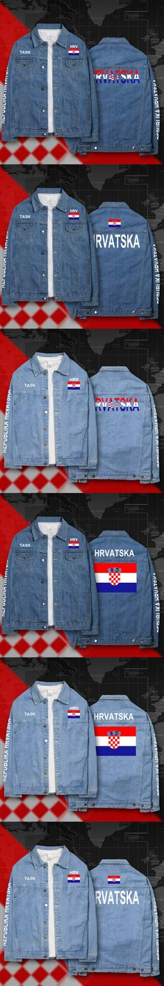 Croatia Hrvatska Croatian HRV Croats denim jackets men coat men's suits jeans jacket thin jaquetas 2017 sunscreen autumn spring