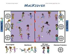 "PE GAMES FOR SUPERHEROES!- ""MACKIDVER"" - TeachersPayTeachers.com"