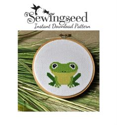 INSTANT DOWNLOAD Frog Cross Stitch Pattern