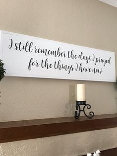 I Still Remember the Days I prayed for What I Have Now Wood Bedroom Decor, Wall Decor, Wood Bedroom, Bedroom Ideas, Master Bedroom, Wall Art, Rustic Home Design, Ideas Hogar, Family Wall