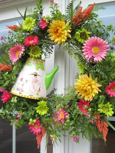 I want to make this wreath for spring