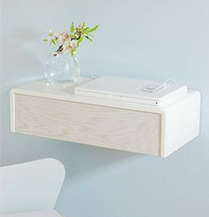 floating drawer..interesting idea for a night table