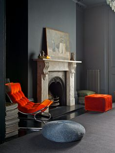 orange and dark, jo atkins hughes | theinteriorstylelist