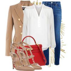 chic camel blazer