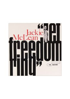 Referencia - Universo gráfico  Let freedom ring - Jackie McLean