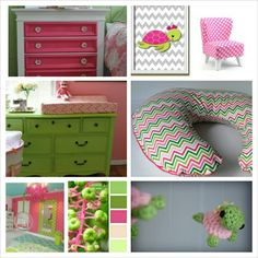 Baby S Pink And Green Turtle Nursery I Love The
