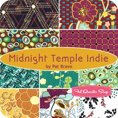 Midnight Temple Indie Fat Quarter Bundle Pat Bravo for Art Gallery Fabrics #FQSgiftguide
