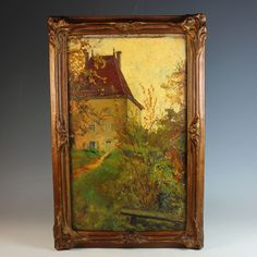 Oil on Board oil Painting by French artist Anna Devaux-Raillon (1891-1968) #Realism