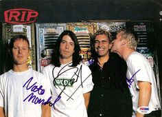 Dave Grohl, Pat Smear, Nate Mendel, & William Goldsmith Autographed Magazine Page Photo Foo Fighters PSA/DNA