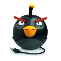GEAR4 Angry Birds Classic and Space Mini Speakers Collection  Classic Black Bird ** BEST VALUE BUY on Amazon