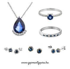 Zafír kövekkel díszített, elegáns fehérarany gyémánt ékszereinket megtekintheted szaküzletünkben, vagy a www.gyemantgyuru.hu weboldalon!