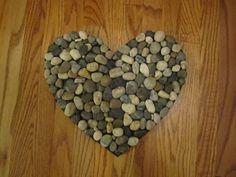 River rock heart door mat accessory to match door mats.