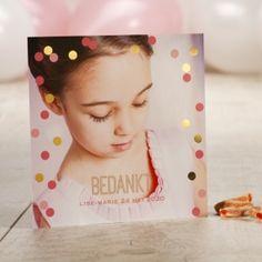 Hip aandenken met confetti in goudfolie | Tadaaz #communie #lentefeest #bedankt #aandenken #goudfolie #confetti www.tadaaz.be