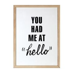 Parlane Had Me At Hello Wall Art ($49) found on Polyvore featuring home, home decor, wall art, white wall art, wooden home decor, wooden wall art, wood home decor and wood wall art