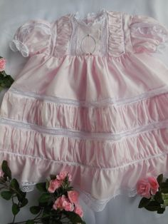Baby Roses Baby Gown by ForgetMeNotsHandmade on Etsy, $180.00