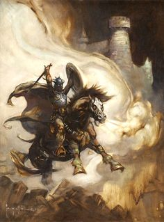 "Frank Frazetta, ""Warrior on Steed"" 1984"