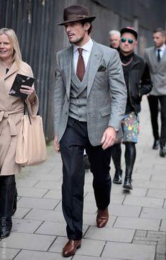David Gandy, Photographed in London. STREETSTYLE Gentlemen Style. Men's Fashion, menswear