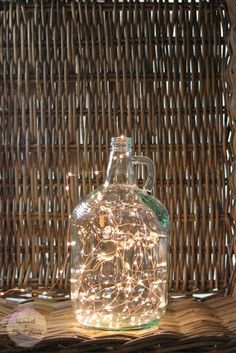 growler, demijohn, lamp, diy, project, simple, quick, easy, decor, lighting, fairy light, idea 2