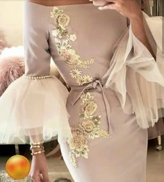 Mom's outfit for my wedding Elegant Dresses, Pretty Dresses, Beautiful Dresses, Formal Dresses, Look Fashion, Hijab Fashion, Fashion Dresses, Queen Dress, Dress Up