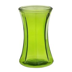 8 in. H. x 4 in. Op., Kiwi Green Everyday OCTAGONIA Gathered Vase