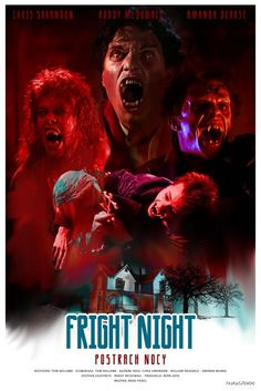 Fright Night (1985). Sci Fi Movies, Scary Movies, Old Movies, Great Movies, Horror Movie Posters, Movie Poster Art, Horror Movies, Creepy Horror, Horror Art
