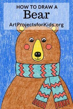 How to Draw a Bear Head · Art Projects for Kids Animal Art Projects, Easy Art Projects, Projects For Kids, Project Ideas, Hand Art Kids, Easy Art For Kids, Kid Art, Teddy Drawing, Bear Drawing