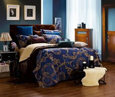 Luxury Jacquard Duvet Bedding - Venus is a New Design by Dolce Mela with Coordinating Window Treatments.