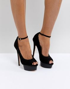 dc4c6cb67a88 Miss KG Vamp Stacked Heel with Ankle Strap Court at asos.com